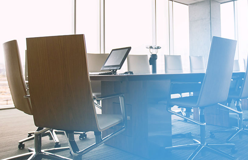 Image of an empty boardroom, representing how Mier Recruitment can help you fill positions with the best employees